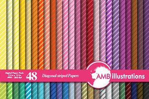 Diagonal Stripes Papers AMB-339