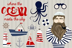 Nautical retro set