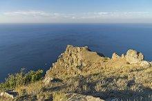 Rock over the sea. Crimea.