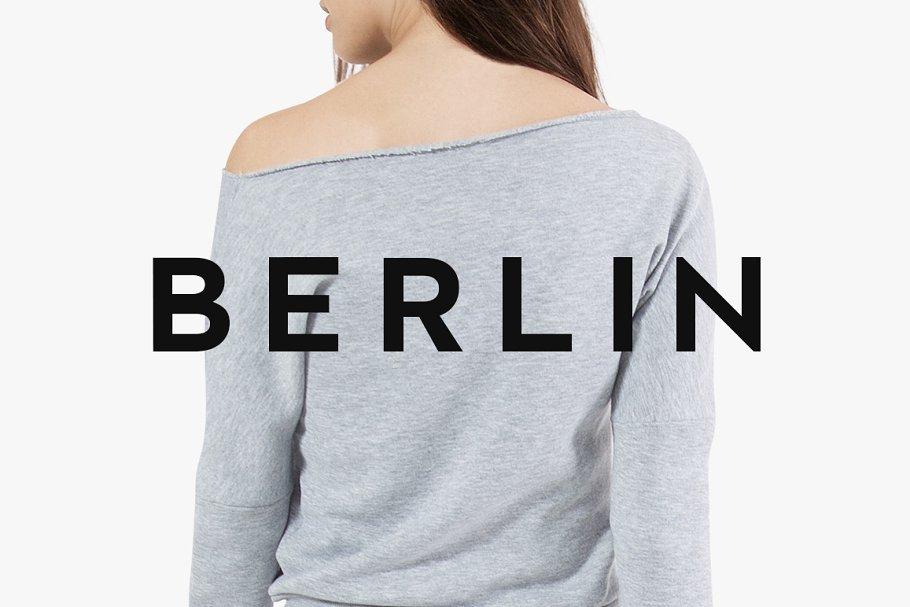 BERLIN - Minimal Typeface + Web Font ~ Sans Serif Fonts