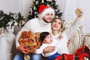 Beautiful family smiling