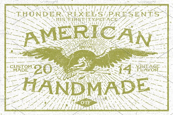 American Handmade Typeface in Display Fonts - product preview 2
