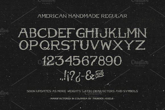 American Handmade Typeface in Display Fonts - product preview 3