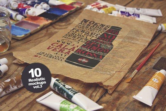 10 Art Equipment Mockups vol.3 - Product Mockups