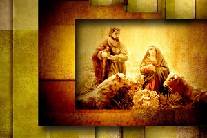 Religious Christmas Cards Nativiy Sc