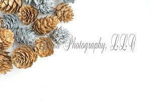Silver & Gold Styled Stock Photo