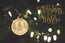 Holiday photo overlay, christmas