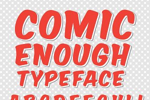 Comic enough typeface