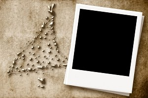 Christmas Card with empty photo fra
