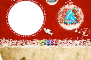 Christmas card children's photoframe