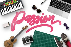 Passion Typeface + Swashes