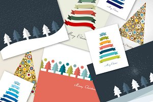 A set of Christmas cards.