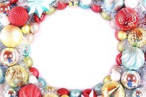 Christmas wreath backdrop
