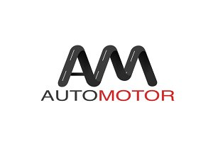 Abstract road logo with auto motor