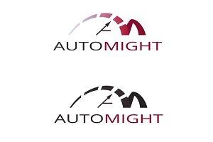 speedometer. abstract symbol logo