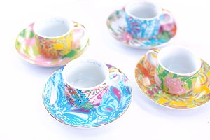 Lilly pulitzer tea cups