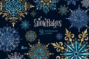 Snowflakes. Winter collection