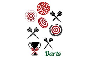 Darts sporting red and black design