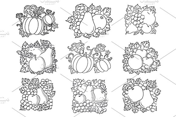 Fruit and vegetable compositions in