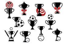 Football or soccer, darts, baseball