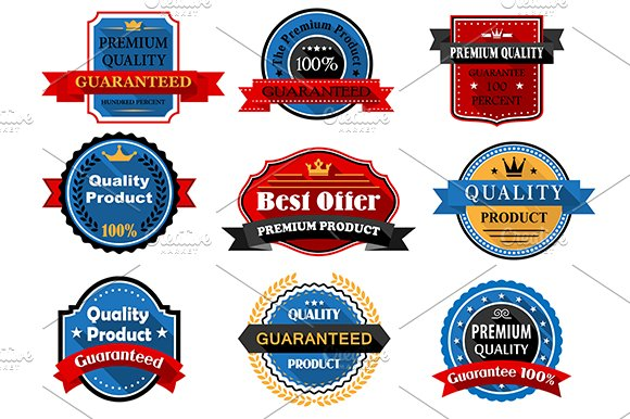 Quality and guarantee flat labels wi