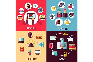 Travel and hotel services flat conce