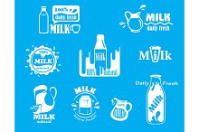 Dairy and milk icons