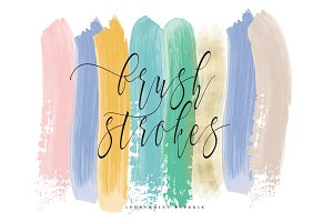 acrylic brush strokes clipart