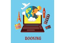 Online travel and booking flat conce
