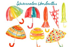 Watercolor Umbrellas