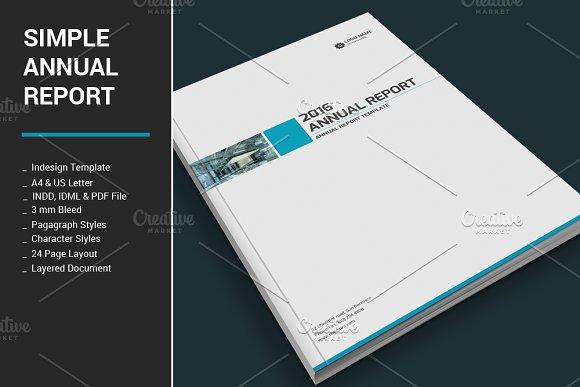 simple annual report brochure templates creative market