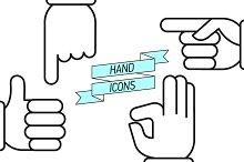 Hand Symbols Set