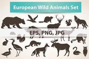european  wild animals collection