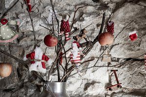Christmas rustic decoration postalca