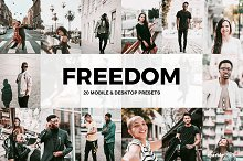 20 Freedom Lightroom Presets and LUT by  in Add-Ons