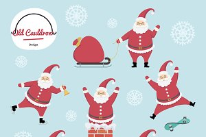 Santa clipart, vector graphics CL002
