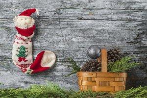Christmas Santa greeting postcard