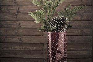 Wellies Christmas greeting card