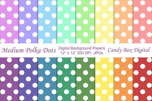 Medium Polka Dot Background Papers