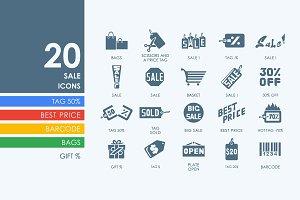 20 sale icons
