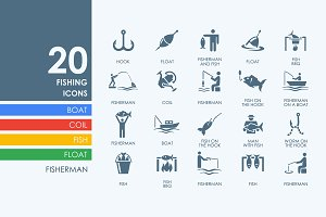 20 fishing icons
