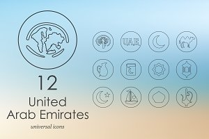 12 United Arab Emirates icons