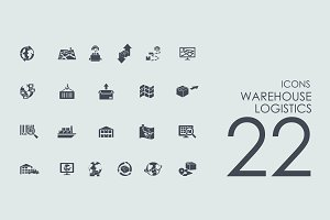 22 warehouse logistics icons
