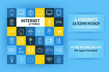 Internet of Things Line Art Icons