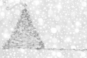 Christmas Cards abstract silver fir