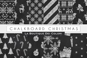 Chalkboard Christmas Digital Papers