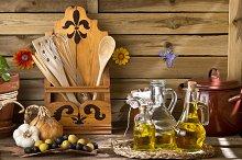 Extra virgin olive oils and olives