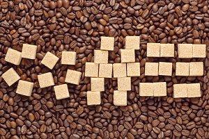 Word Coffee by cane sugar cubes
