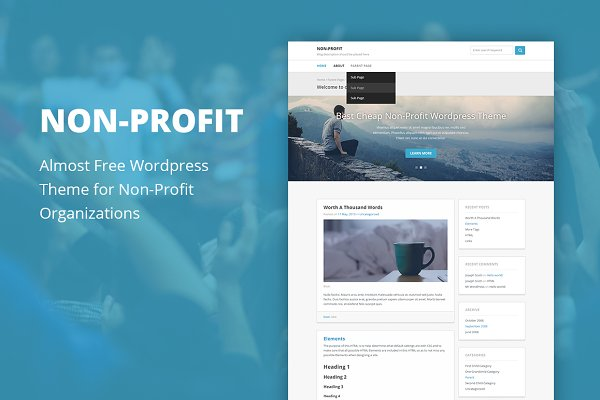 WordPress Non-Profit Themes - Non Profit - Cheap Wordpress Theme