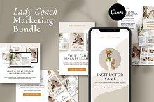 Lady Coach Marketing Bundle   CANVA